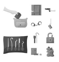 Isolated object pickpocket and fraud sign vector
