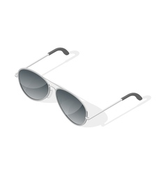 Isometric 3d of aviator glasses vector
