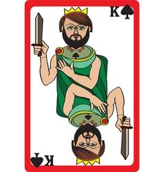 king spades vector image