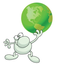 Man green earth vector