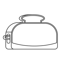 metal toaster icon outline style vector image