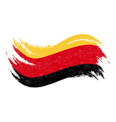 national flag of germany designed using brush vector image