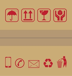 packaging icon vector image