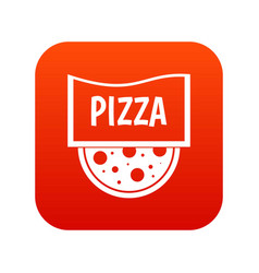 pizza badge or signboard icon digital red vector image