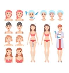 Plastic surgery set vector image