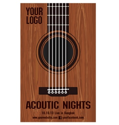 Poster Acoutic Nights vector