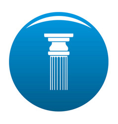 Rectangular column icon blue vector