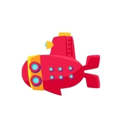 Red Submarine Toy Boat vector image