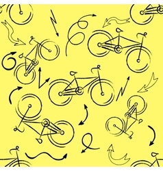 Seamless bicycles pattern Stylish sporty print vector