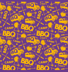 Seamless pattern for barbecue festival vector