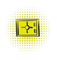 Security safe icon comics style vector image