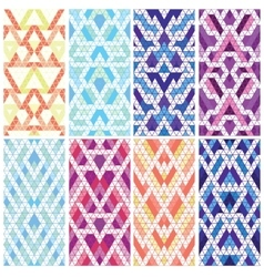 Set of eight patterns vector