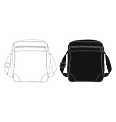 Shoulder bag Contour lines silhouette vector image