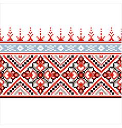 Slavic ornament for cross stitch vector