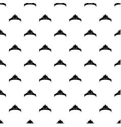small princess crown pattern seamless vector image