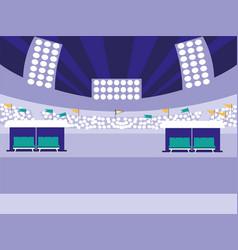 Stadium scene isolated icon vector