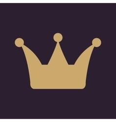 The crown icon Crown symbol vector