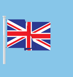 united kingdom flag with copyspace vector image