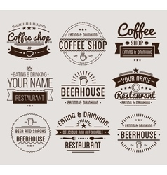 Vintage logo Coffee shop template Restaurant vector