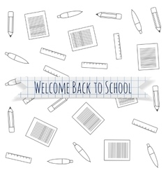 Welcome Back to School festive Label vector