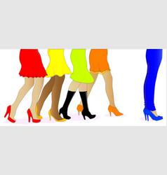 Womens legs vector