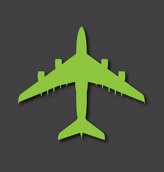 airplane logo big airliner with drop shadows vector image