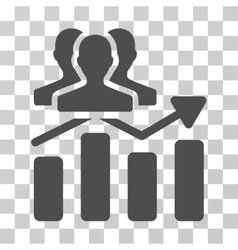 Audience chart trend icon vector