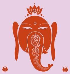 Ganesh and lotuses poster vector image