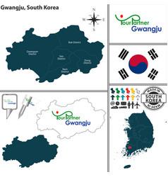 gwangju metropolitan city south korea vector image vector image