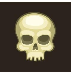 Halloween Skull in Cartoon Style on Dark vector image vector image