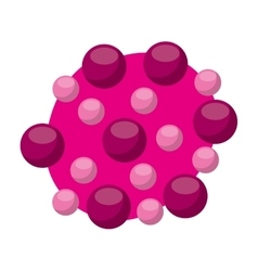 laboratory particle isolated icon vector image