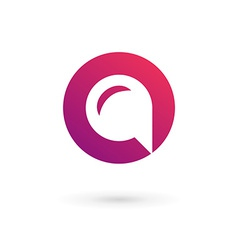 Letter O speech bubble logo icon design template vector image