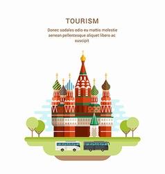 Tourism Concept Flat Style Saint Basils Cathedral vector image