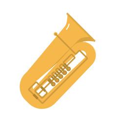trombone tuba trumpet classical sound vector image