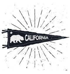 adventure pennant vintage hand drawn flag vector image