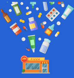 concept with medicines vector image vector image