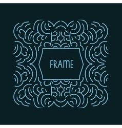 Hand drawn frame monogram design emblem template vector image