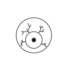 scary eyeball icon vector image