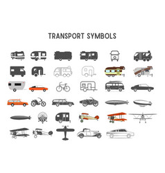 transport shapes and elements for creation vector image vector image