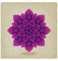 Circular pattern mandala old background vector