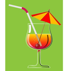 cocktail 2 vector image vector image