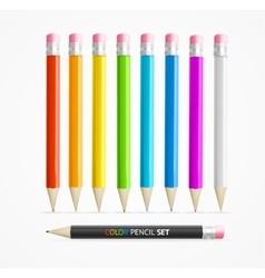 Color Pencil Set vector image