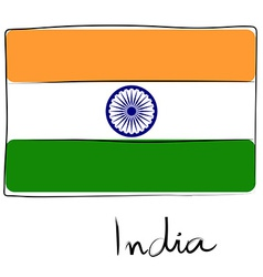 India flag doodle vector image