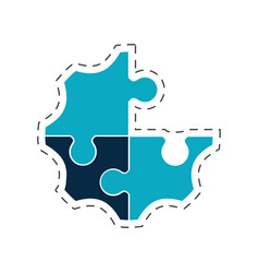 puzzle creative solution image vector image