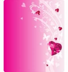 shiny ruby design vector image