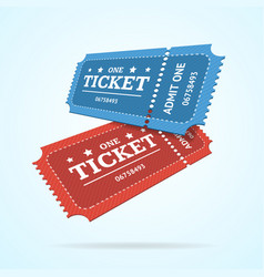 ticket fly blank admit set retro old style vector image