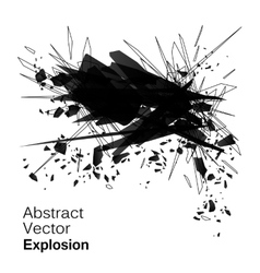 Abstract explosion geometric grunge backgroun vector image