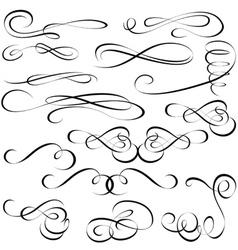 calligraphic elements vector image vector image