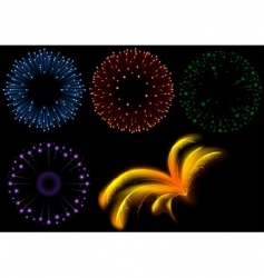 fireworks set vector image vector image