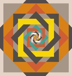 geometrical design a square in a square vector image